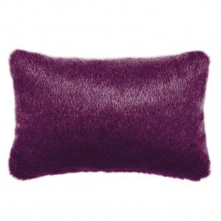 Pad Kissen Kunstfell CHAMPAGNE 30 x 48 cm purple mit RV modern exklusiv
