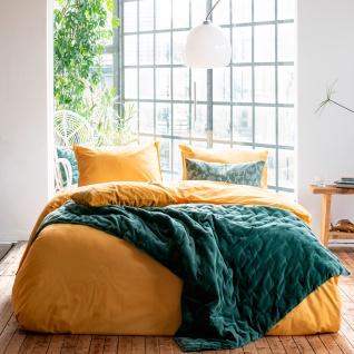WALRA Bettwäsche Renforcé Soft Structure ockergelb aus 100% Baumwolle Uni