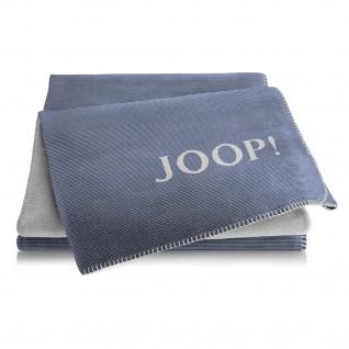 JOOP! Wohndecke Doubleface Melange 150 x 200 cm marine-graphit Baumwollmischung