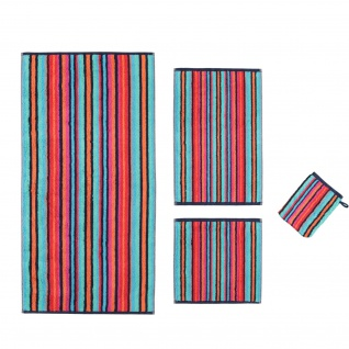 Cawö Home Handtücher Home Art Streifen 146-12 Multicolor