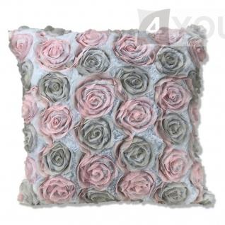 Pad Kissenhülle CINDERELLA 45 x 45 cm grey 100% Polyester romantisch