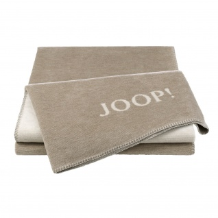 JOOP! Doubleface Wohndecke Melange 150 cm x 200 cm sand - natur Baumwollmischung