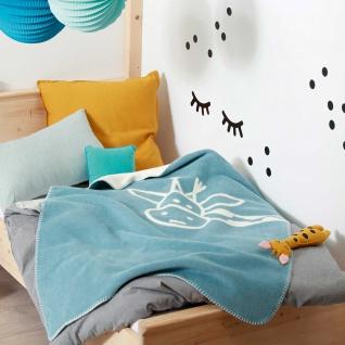 Biederlack Kinder-Kuscheldecke Cookie 75 x 100 cm hellblau Baumwollmischung