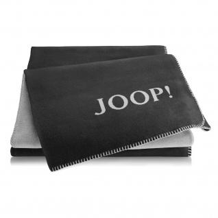 JOOP! Doubleface Wohndecke 150 cm x 200 cm Anthrazit-Ash Baumwollmischung