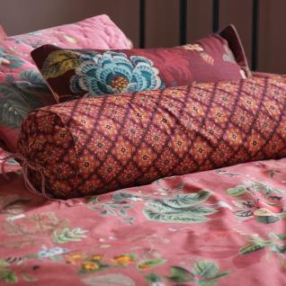 PIP Studio Nackenrolle Zierkissen Poppy Stitch Red 22 x 70 cm florales Motiv