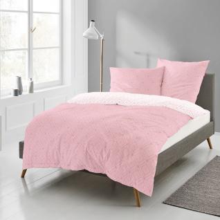 freundin Mako-Satin Bettwäsche Corado 8947-60 rosa geometrisches Muster - Vorschau 1