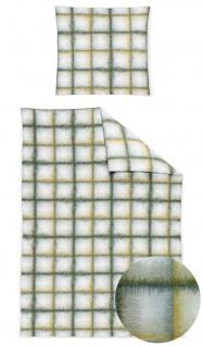 Irisette Jersey Bettwäsche Luna 8036-30 grün, Karos 100% Baumwolle pflegeleicht