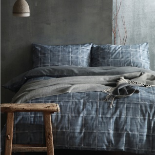 Cloth & Clay Bettwäsche Haze blau | 100% Baumwolle / Perkal