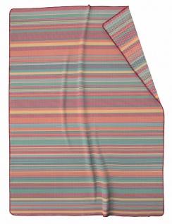 Biederlack Wohndecke Authentic 150 x 200 cm Baumwollmischung bunt gestreift