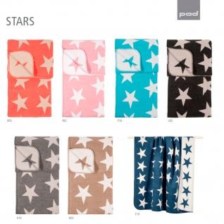 pad STARS Wohndecke 150 x 200 cm Baumwollmischung weich kuschelig