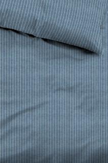 Tom Tailor Flanell Bettwäsche Melange 849915-843 jeans feine Längsstreifen - Vorschau 2