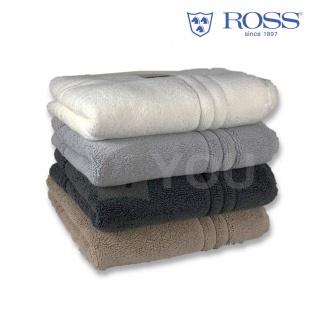 Ross Frottier Badteppich Bad-/Duschvorlage Uni Größe 50 x 70 cm 100 % Baumwolle