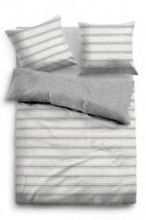 Tom Tailor Flanell Bettwäsche Melange 849914-844 grey Querstreifen wärmend
