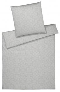 elegante Mako-Satin Bettwäsche Circle 2330-09 silber - grau modern exklusiv