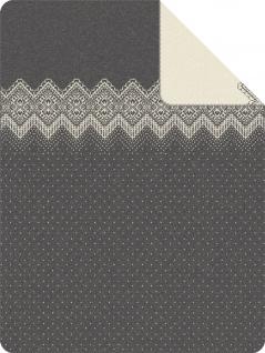 s.Oliver Kuscheldecke 3524-800 anthrazit-wollweiß 150 x 200 cm Baumwollmischung