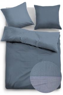 Tom Tailor Baumwollsatin Bettwäsche 69940-843 blau 100% Baumwolle