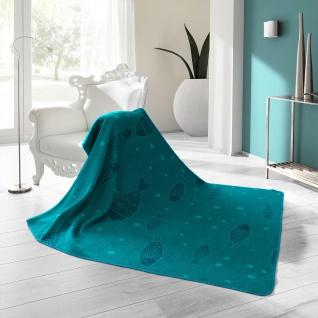 Biederlack Kuschel- Wohndecke Soft Cotton Deep Blue Sea 150 x 200 cm türkisblau - Vorschau 2