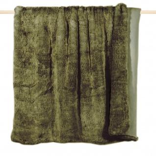 pad home Felldecke CHAMPAGNE olive exclusiv | Größe:140 x 190 cm | Fellimitat
