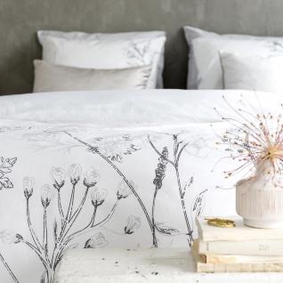 Walra Renforcé Bettwäsche Flower Fields weiß 100% Baumwolle - Vorschau 3
