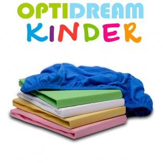 OptiDream Jersey Spannbetttuch Kinderbett 60/120 cm bis 70/140 cm 100% Baumwolle