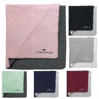 Tom Tailor Kuscheldecke Wohndecke Doubleface 150 x 200 cm Uni mehrere Farben