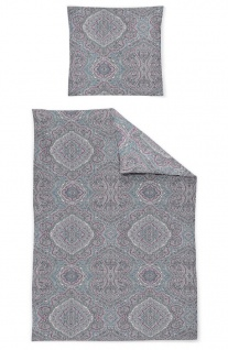 Irisette Mako-Satin Bettwäsche Capri 8058-20 petrol Ornamente 100% Baumwolle - Vorschau 2