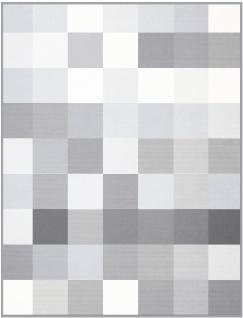 Biederlack Decke Grey-Woven 150 x 200 cm klassisch aus 100% Baumwolle