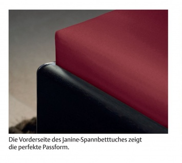 Janine Spannbetttuch Comfort Elastic 100 x 200 cm für Matratzenhöhe bis zu 32 cm - Vorschau 3
