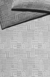 Elegante Mako-Satin Bettwäsche City 2262-9 schwarz-weiß exklusiv Wendeoptik - Vorschau 2