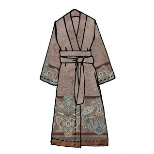 Bassetti Granfoulard Damen-Kimono Volterra M1 braun Ornamente Baumwollsatin