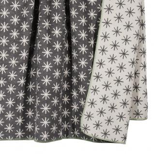 PAD Decke Wohndecke STELLA grey 150 x 200 cm Baumwollmischung Eiskristalle - Vorschau 2