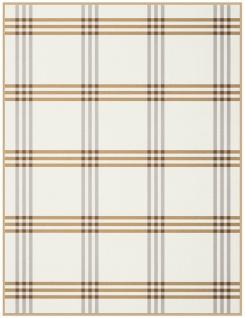 Biederlack Cotton-Pure Check 150 x 200 cm beige Karos 100 % Baumwolle