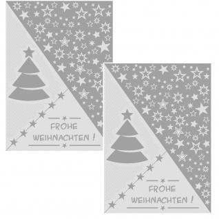 Ross Geschirrtücher 2-er Set 50 x 70 cm Weihnachtsmotive grau Baumwolle