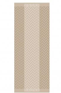 Saunatuch aus 100% Baumwolle beige 70 x 200 cm