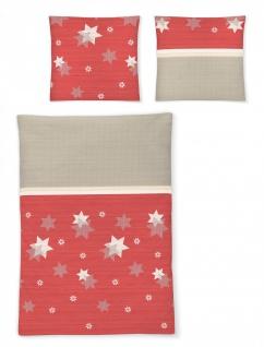 Irisette Bettwäsche Davos 8336-60 rot Edel-Feinbiber 135 x 200 cm weich wärmend