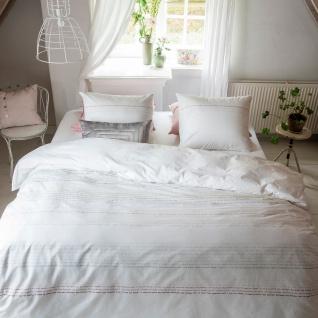 WALRA Bettwäsche Dear Diary rosa-weiss 100% Baumwolle mit Schriftzug