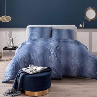 Estella Mako-Interlock-Jersey Bettwäsche Juri 6928-625 nachtblau bügelfrei