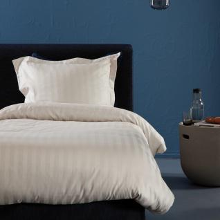 Damai Baumwoll-Satin Bettwäsche Linea ivory Jaquard-Streifen 100% Baumwolle