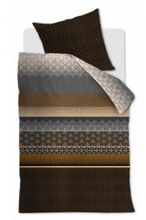 Beddinghouse Baumwollsatin Bettwäsche Linear Leaf Gold aus 100% Baumwolle