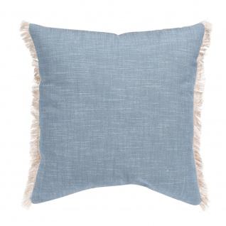 Winkler Kissenhülle JET 45 x 45 cm mit Fransen 100% Baumwolle einfarbig - Vorschau 2