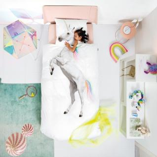 SNURK Kinder-Bettwäsche Unicorn - Einhorn 135 x 200 cm Digitaldruck Bio Cotton - Vorschau 3