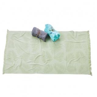 done.® Hamamtuch CAPRI PALM LEAVES 100% Baumwolle 90 x 160 cm mit Fransen extra leicht