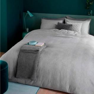 Beddinghouse Biber Bettwäsche Frost Light Grey Uni aus 100 % Baumwolle