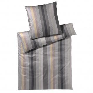 JOOP! Mako-Satin Bettwäsche Stripes 4093-7 1 Stone aus 100% Baumwolle