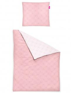 freundin Mako-Satin Bettwäsche Corado 8947-60 rosa geometrisches Muster - Vorschau 2