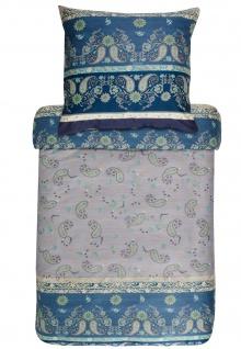 Bassetti Bettwäsche RAFFAELLO V7 blau 100% Baumwolle Ornamente mediterran