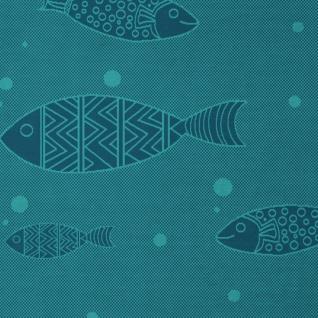 Biederlack Kuschel- Wohndecke Soft Cotton Deep Blue Sea 150 x 200 cm türkisblau - Vorschau 3