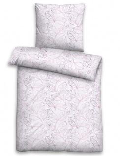 Biberna Edelflanell Bettwäsche 85123-324 Blätter flieder aus Baumwolle wärmend
