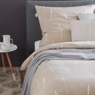 Schöner Wohnen Bettwäsche GRAS beige 100% Baumwolle Knitterlook