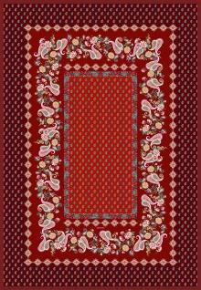 Bassetti Plaid Wohndecke Fabriano R1 Rot 135 x 190 cm mediterranes Muster gesteppt